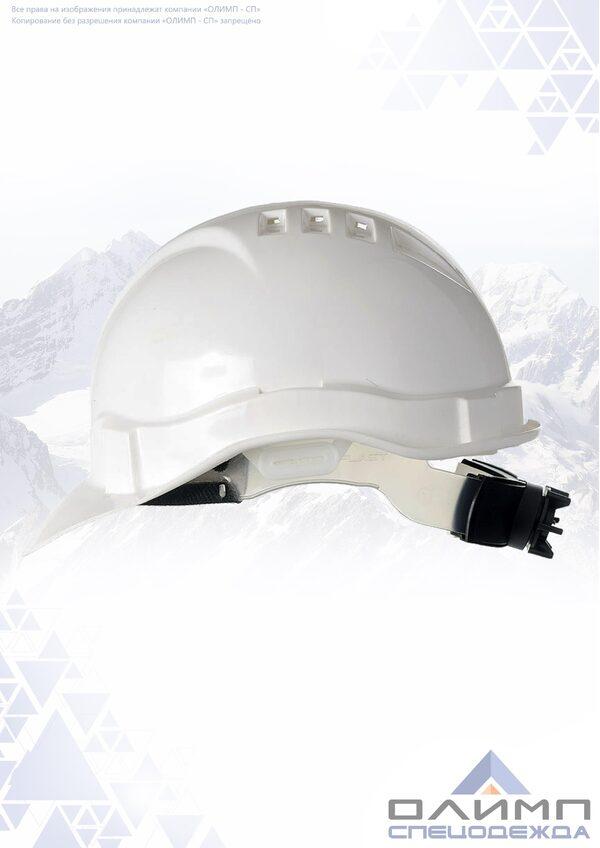 Каска ЕВРО-ЛЮКС храповик (К-04) белая пластиковое оголовье