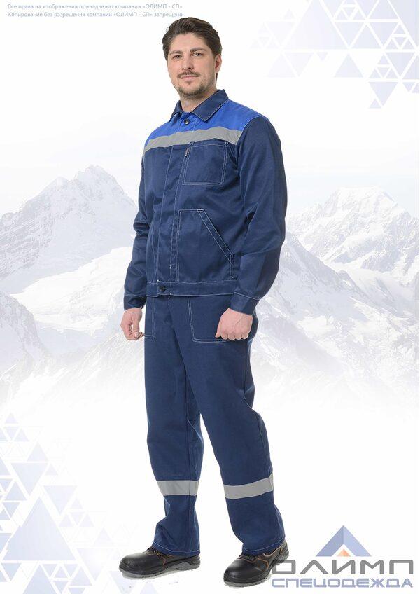 "Костюм ""Бригадир 24"" тёмно-синий с васильком и СОП"