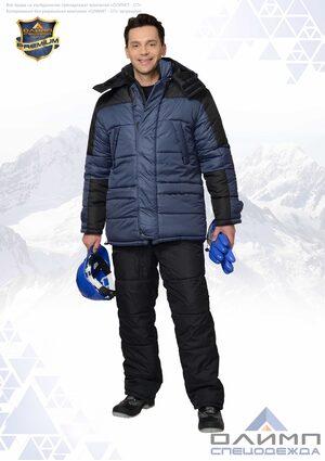 """Куртка """"Спец 31"""" зимняя тёмно-синяя с чёрным"""