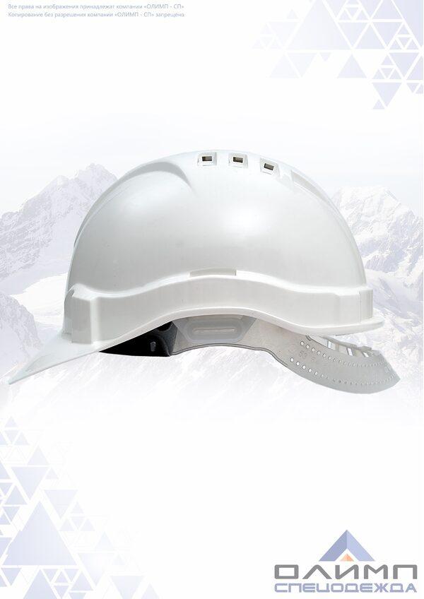 Каска белая ЕВРО (К-03) пластиковое оголовье