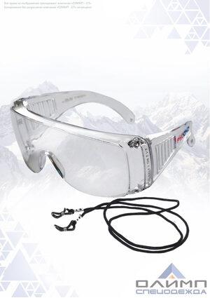 Очки защитные открытые СПЕКТР прозрачные со шнурком