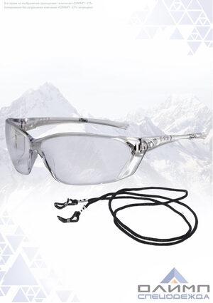 Очки защитные открытые ОМЕГА прозрачные со шнурком