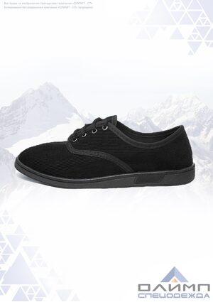 Полуботинки (туфли) вельветовые на шнурках