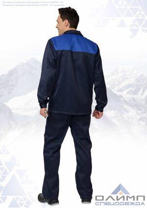 """Костюм рабочий мужской """"Нео 11"""" синий с васильком (куртка с брюками)"""