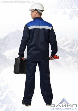 """Костюм мужской """"Нео 13"""" тёмно-синий с васильком и СОП"""