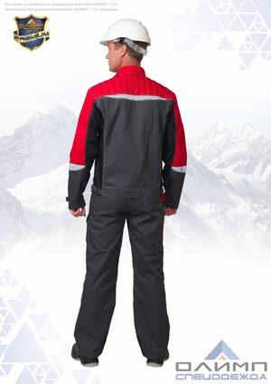 """Костюм мужской летний """"Вейс 24"""" серый с чёрным и СОП (куртка с полукомбинезоном)"""