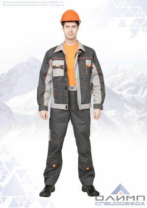 """Костюм мужской летний """"Вейс 16"""" серый со светло-серым (куртка с брюками)"""