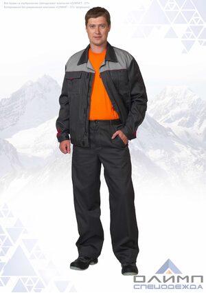 """Костюм мужской летний """"Буст 11"""" серый со светло-серым (куртка с брюками)"""
