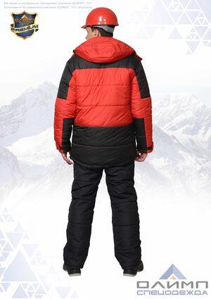 """Куртка зимняя """"Вейс 31"""" красная с чёрным"""