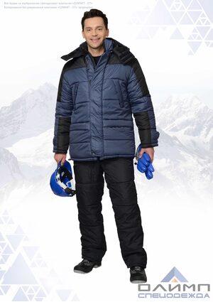 """Куртка мужская зимняя """"Вейс 31"""" тёмно-синяя с чёрным"""